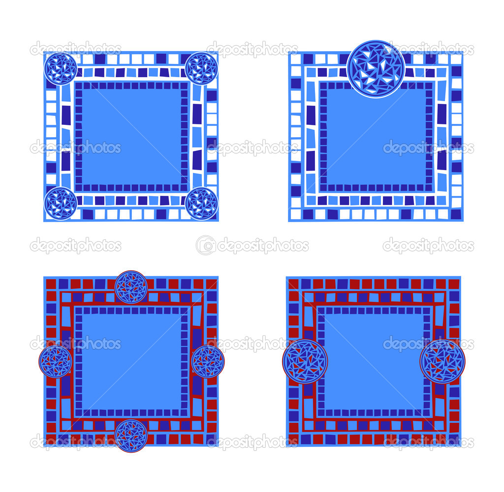 Marcos de mosaico — Archivo Imágenes Vectoriales © dayzeren #4752362