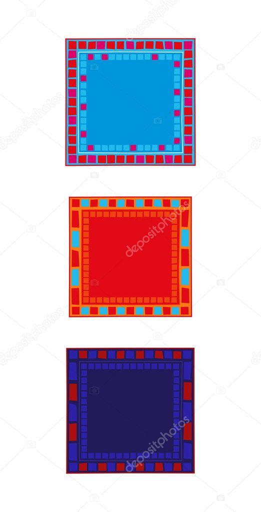 Marcos de mosaico — Archivo Imágenes Vectoriales © dayzeren #4752363