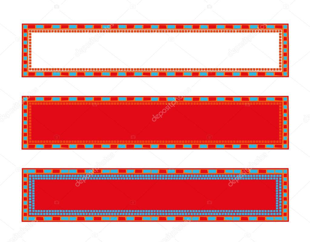 Marcos de mosaico — Archivo Imágenes Vectoriales © dayzeren #4752371