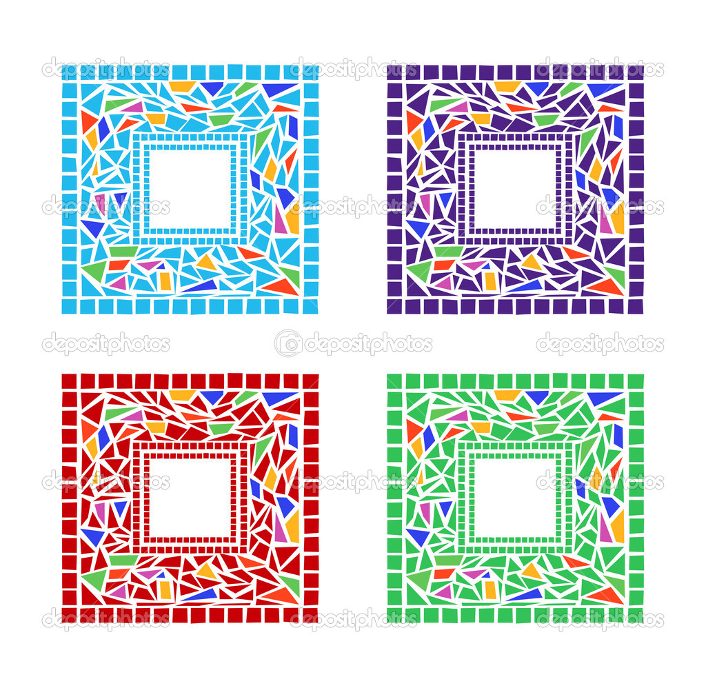Marcos de mosaico — Archivo Imágenes Vectoriales © dayzeren #4752381