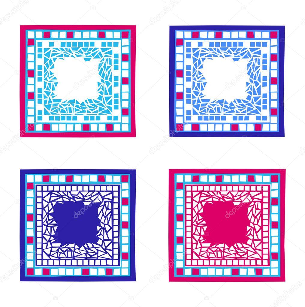 Marcos de mosaico — Vector de stock © dayzeren #4752394