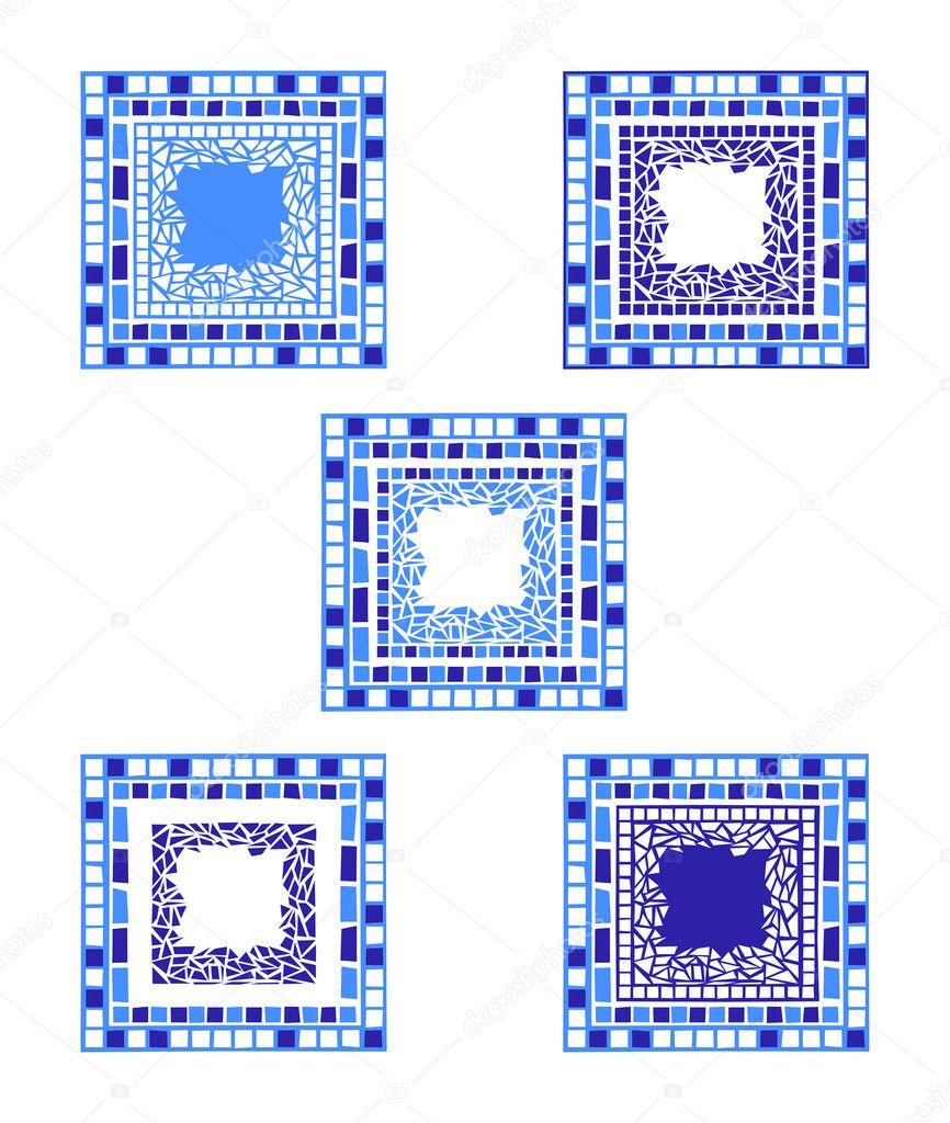 Marcos de mosaico — Vector de stock © dayzeren #4752399