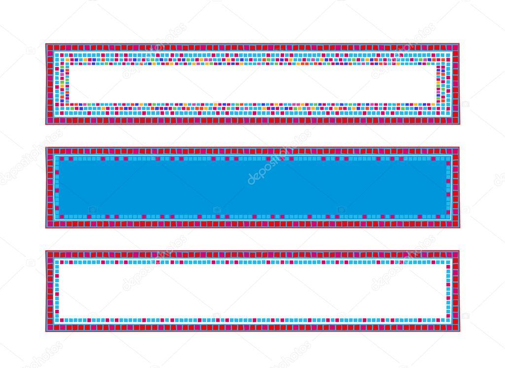 Marcos de mosaico — Vector de stock © dayzeren #4752407
