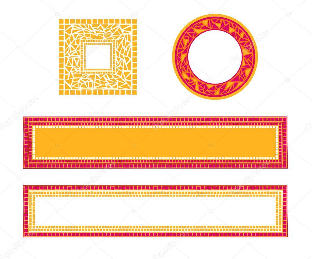 Marcos de mosaico — Vector de stock © dayzeren #4752413