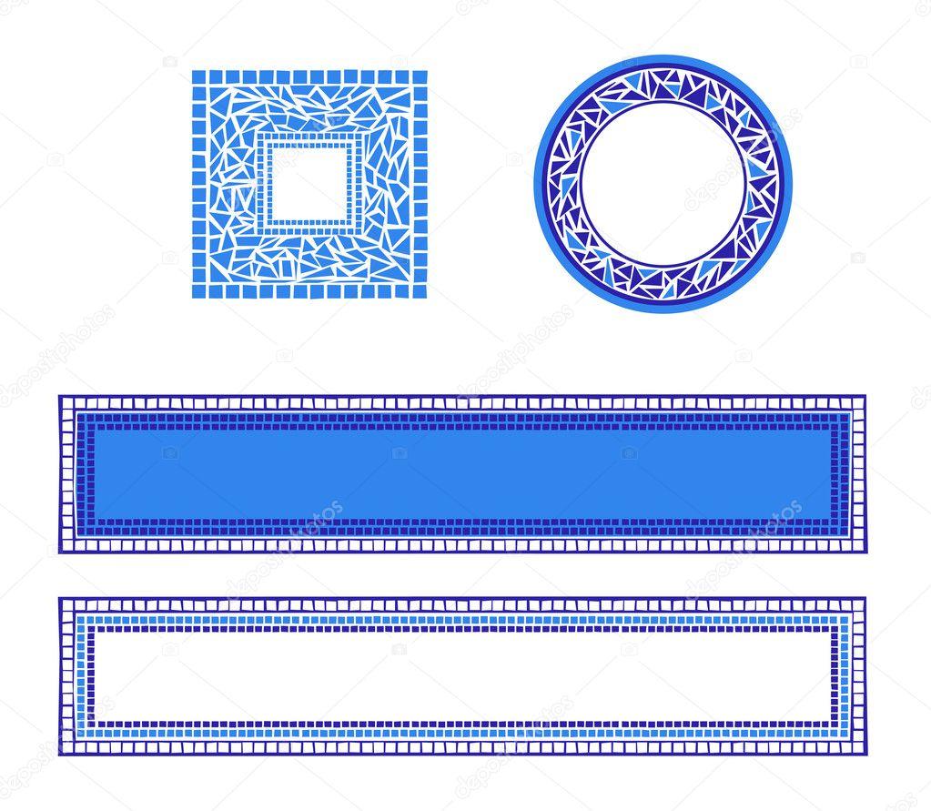 Marcos de mosaico — Archivo Imágenes Vectoriales © dayzeren #4752422