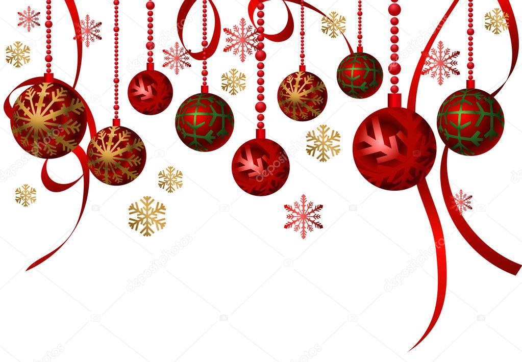 Hanging ornaments stock vector dayzeren 4755926 - Hanging christmas ornaments ...