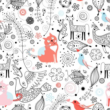 Graphic pattern of animals