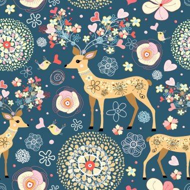 Texture is fabulous flower deer