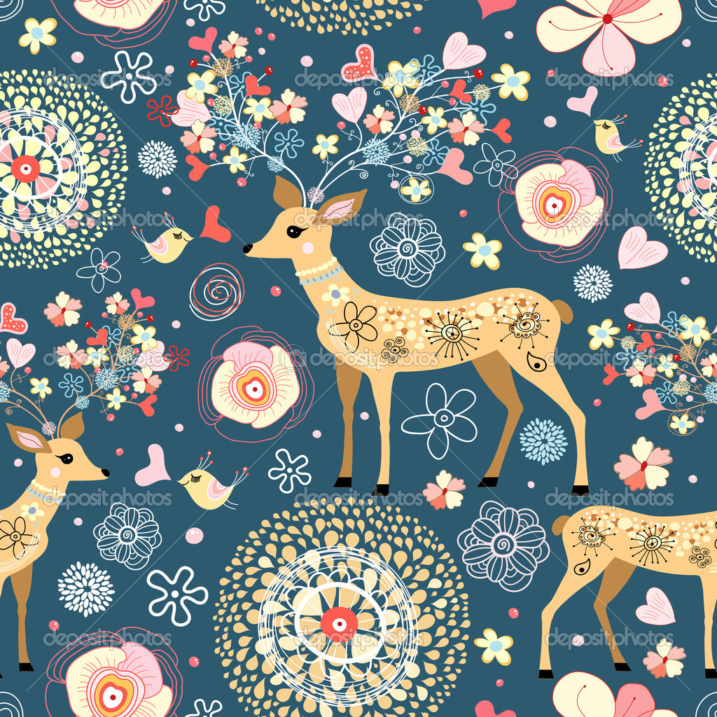 Texture is fabulous flower deer