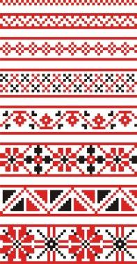 Vector russian national ornaments