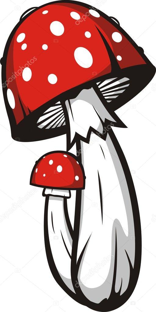 Vector setas agárico de mosca — Vector de stock © odes #5085595