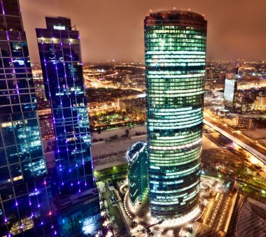 Aerial view on Moscow City