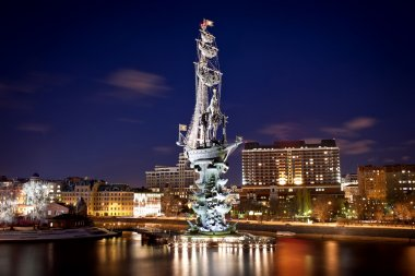 Monument to Peter the Great in Moscow