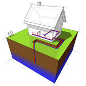 Photo Heat pump diagram