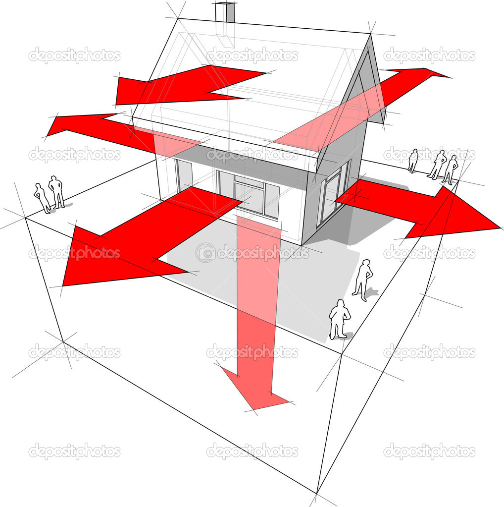 wärme-verlust-diagramm — stockvektor © valigursky #5057836