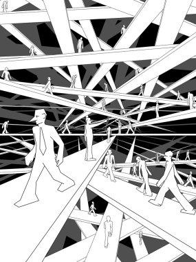 Labyrinth of bridges