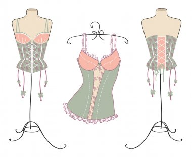 Variety of sexy vintage corsets