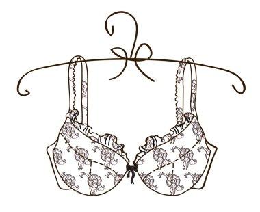 Vector bra on white background