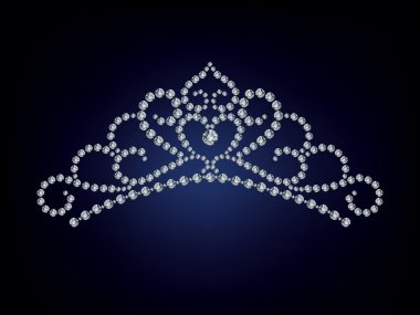 The Diamond tiara isolate object