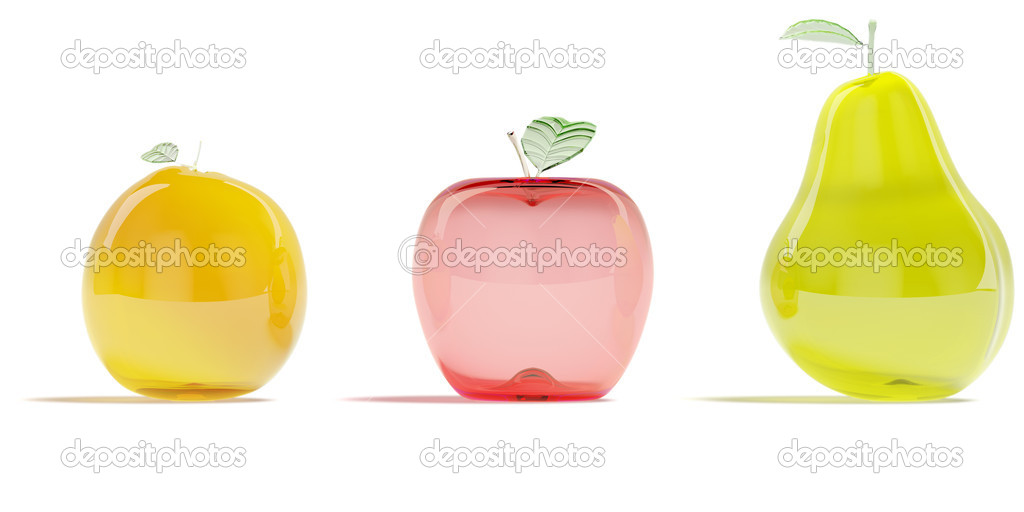 frutas de cristal Fotos de Stock filipokcg 4847077