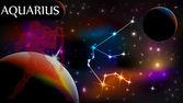 astrologické znamení a kopírovat prostor, Vodnář