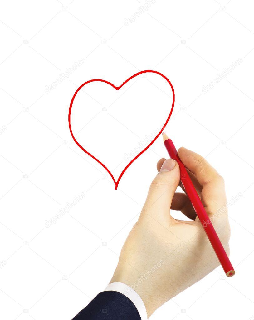 Hand Zeichnen Von Herzen Stockfoto C Kladoposhuk 4863588