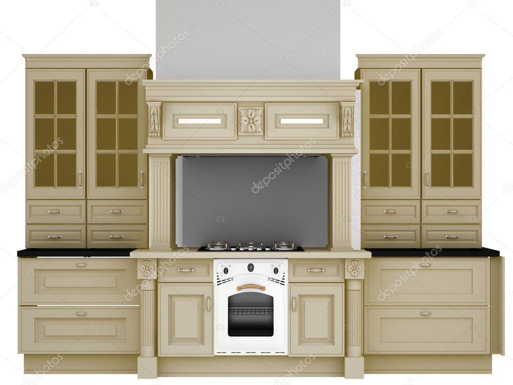 muebles clásicos para la cocina — Foto de stock © kellkinel #5257923