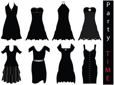 Vector illustration of modern formal dresses - NEW FASHION