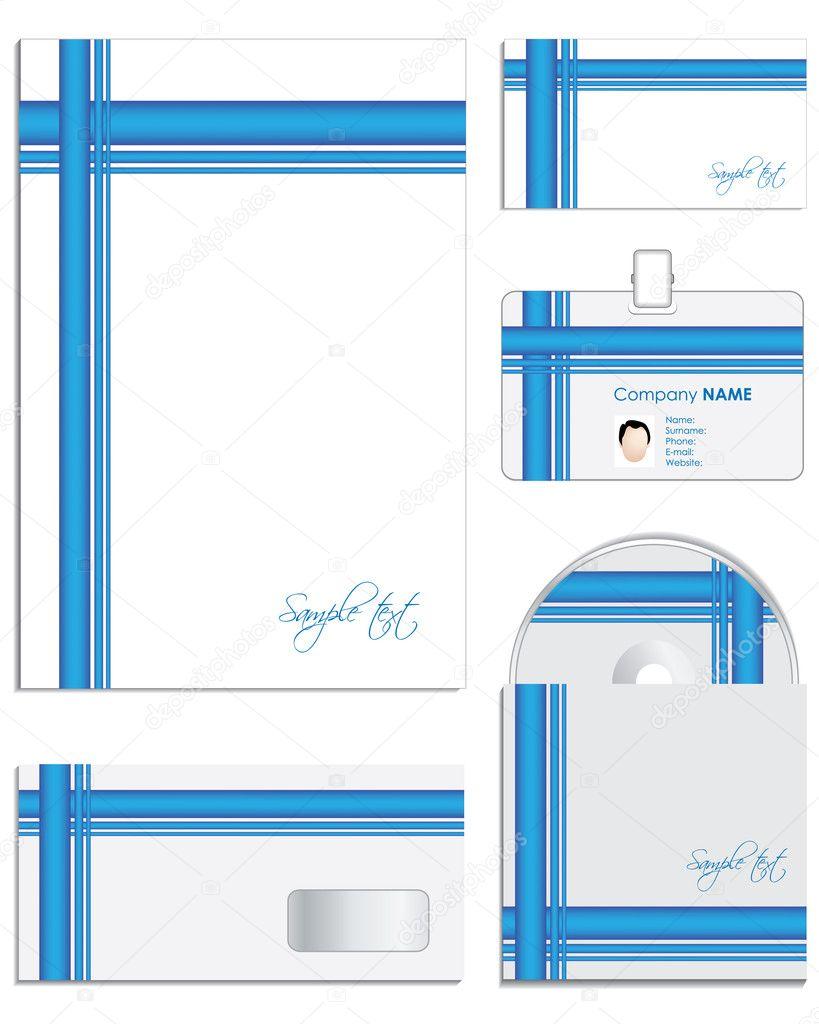 business-stil-vorlagen für ihr projektdesign — Stockvektor ...