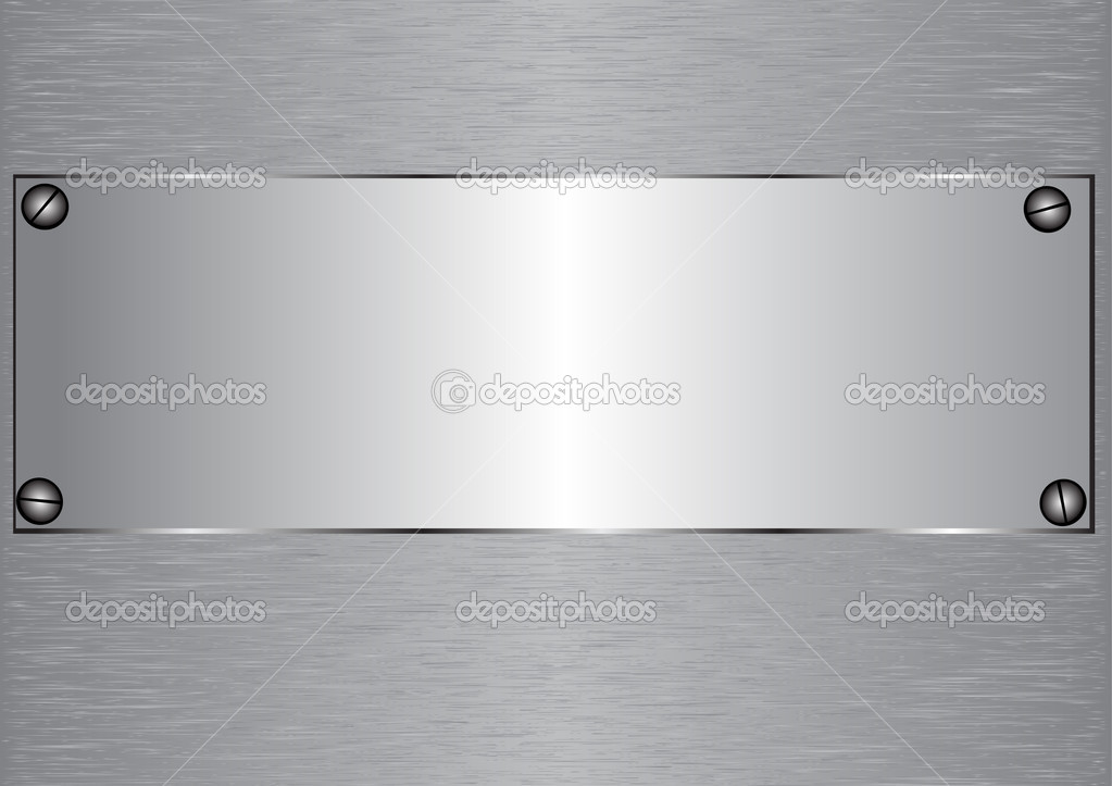 Metal emplate with empty space