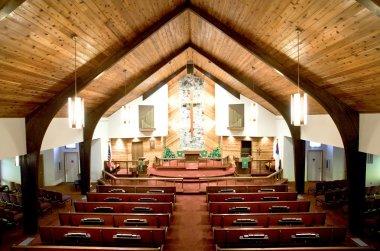 Inside a beautiful church.