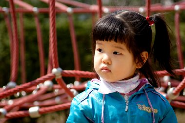 Korean girl in the park.