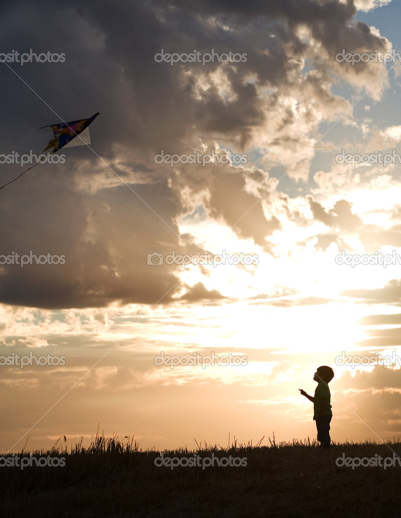 Boy aims for the sky.