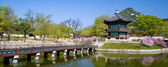 Photo Panormic of a Korean Pavilion.