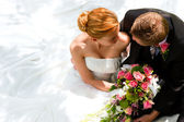 Fényképek esküvői pár átölelve, a