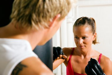 Boxing couple (male and female)