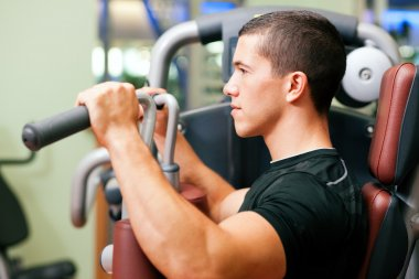 Man doing fitness training on a