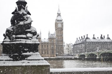 Westminster Palace before Christmas in London