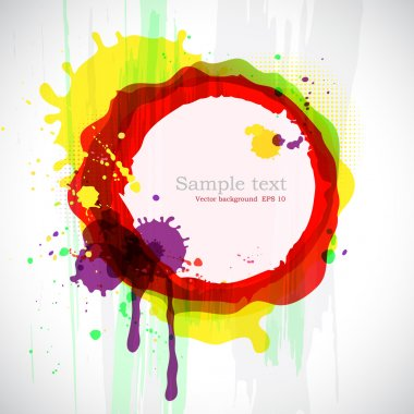Abstract colorful ink blots. Vector background with place for your text. clip art vector