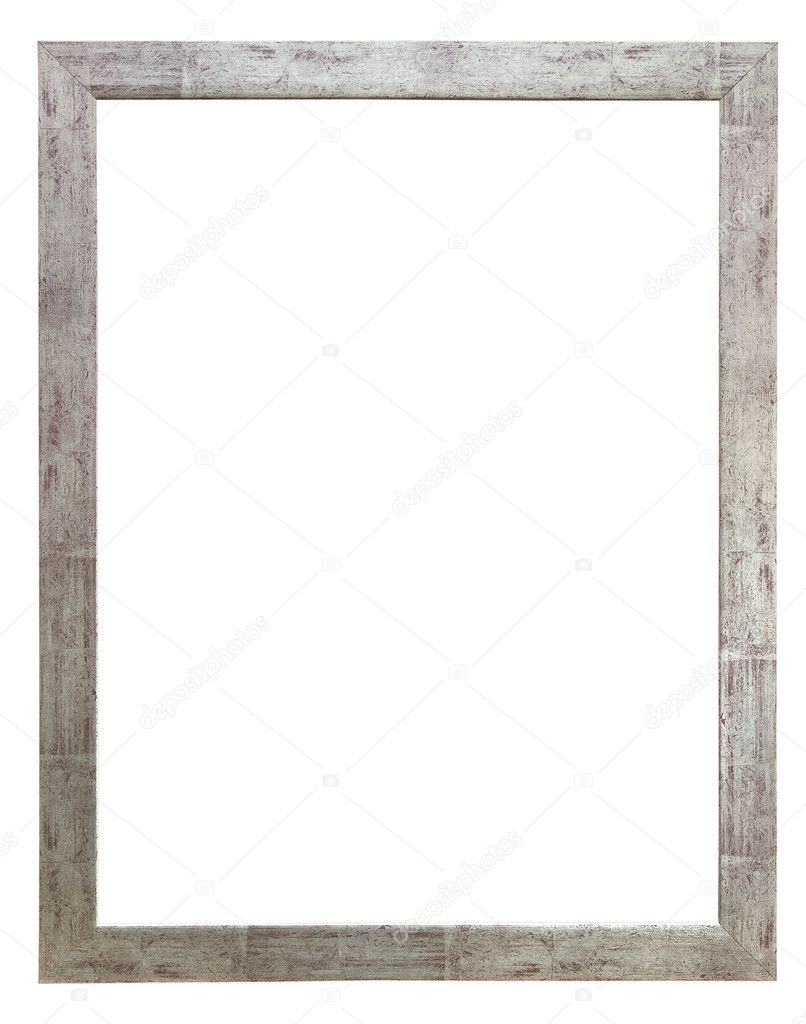 Holz Foto Rahmen rustikal Silber — Stockfoto © paulrommer #4881271