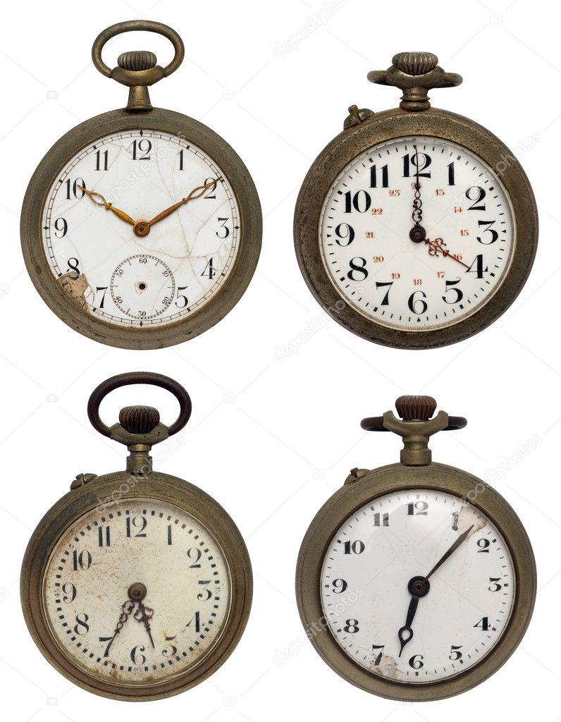σύνολο τέσσερα παλιά ρολόγια τσέπης 5fb423bd1e2