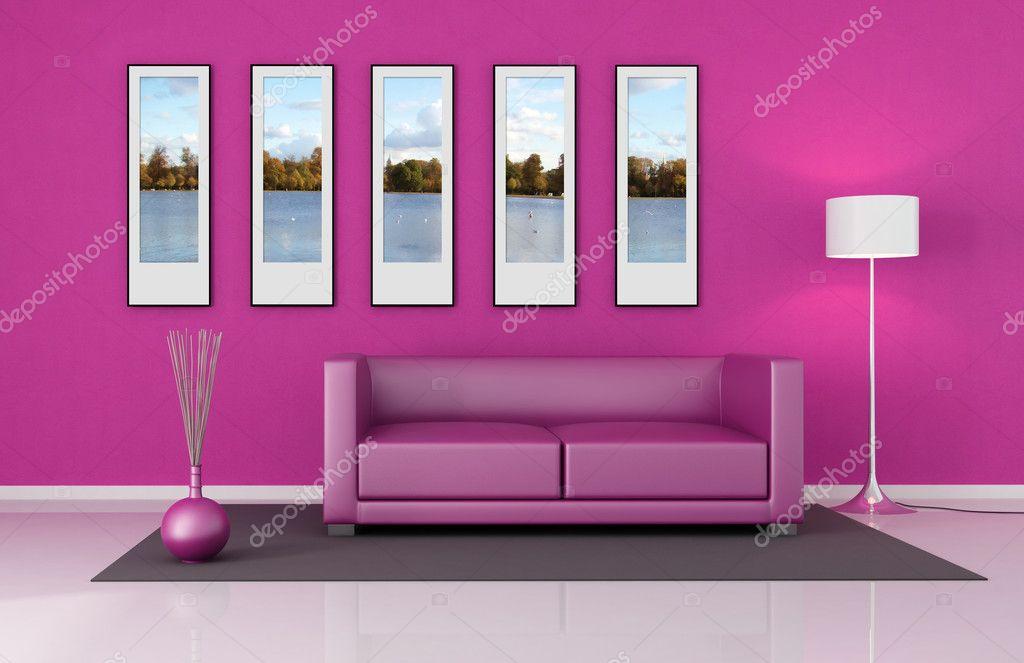 Pink lounge — Stock Photo © archideaphoto #4877148