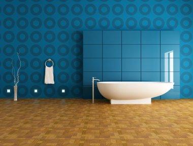 Contemporary blue bathroom