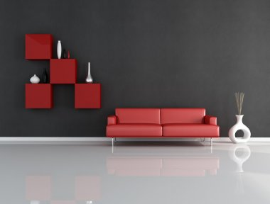 Red and black lounge