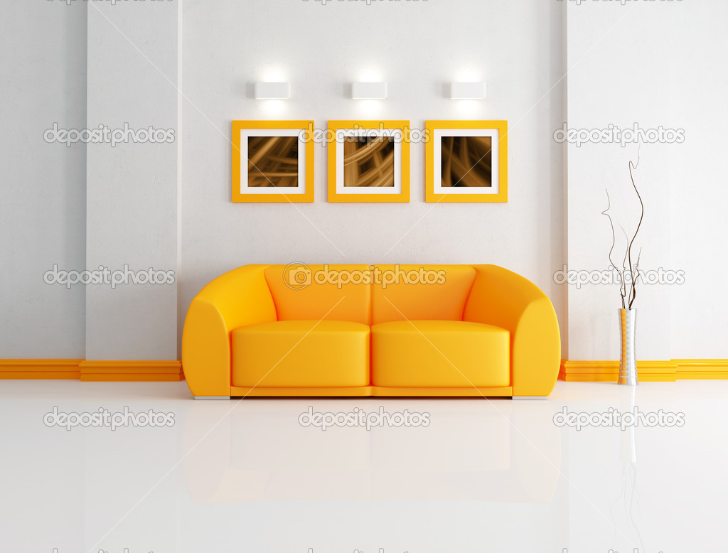 Bright Orange And White Living Room U2014 Stock Photo #4908085 Part 50