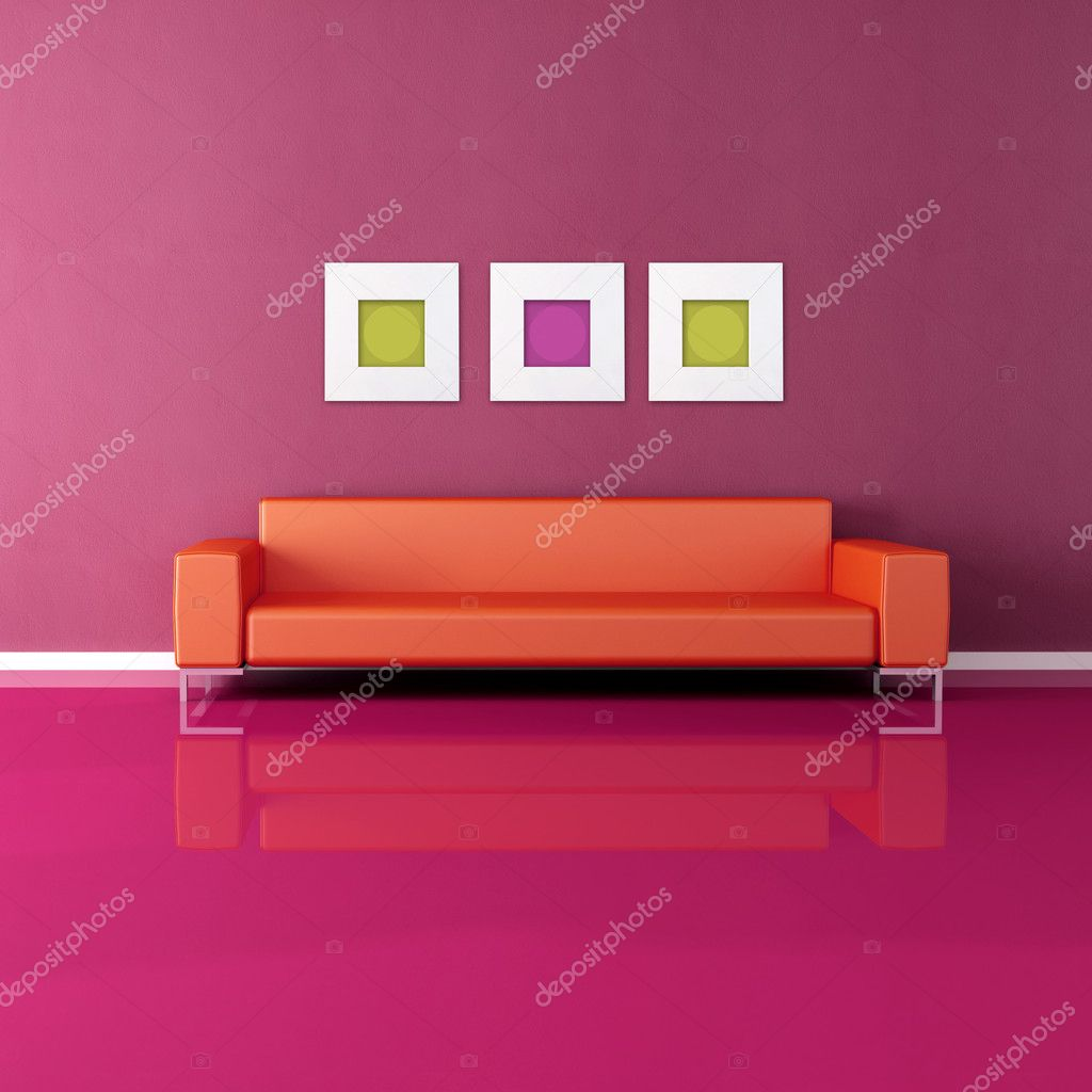 gekleurde woonkamer — Stockfoto © archideaphoto #4908098