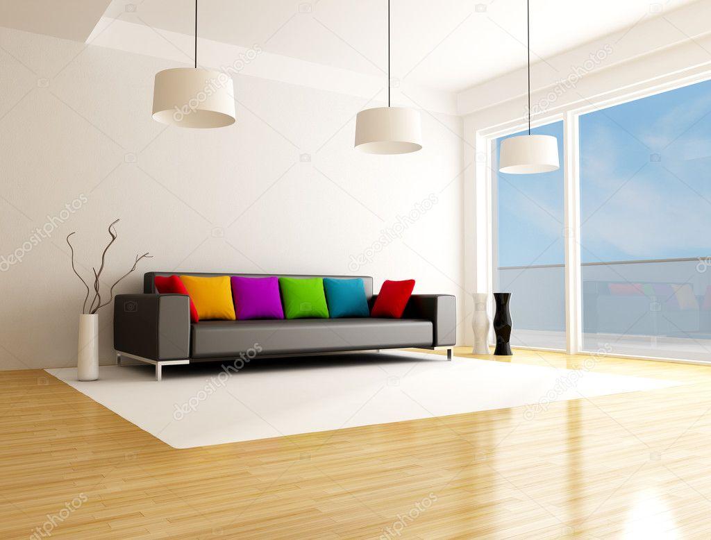 moderne gekleurde woonkamer — Stockfoto © archideaphoto #4908154