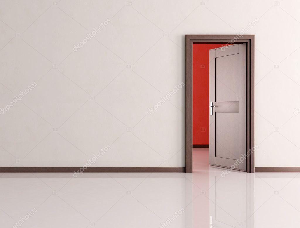 Stock Room Doors : Open door in a empty room — stock photo archideaphoto