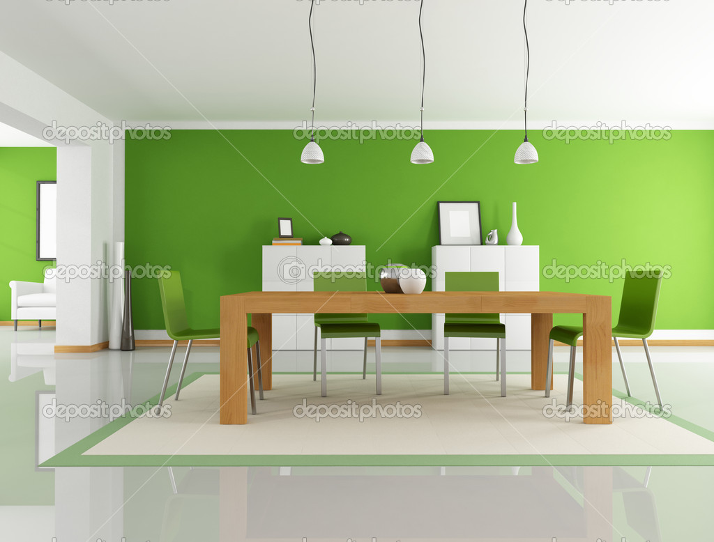 Salle A Manger Vert Photographie Archideaphoto C 4918736