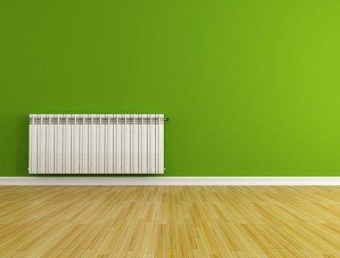 Empty room with radiator